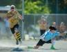 Jason Smith makes first base